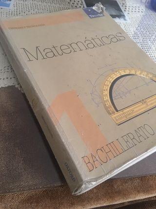 Libro de matemáticas oxford/ 1 bachillerato