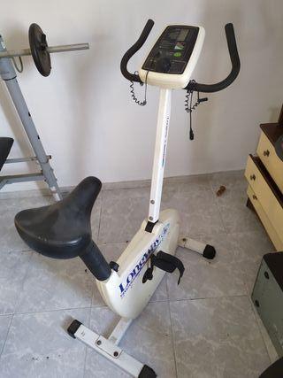 bicicleta estática con pulsómetro y función remo.