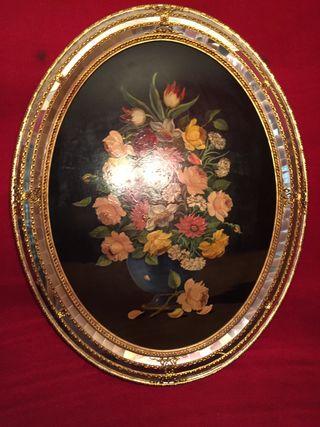 Cuadro decorativo florero vintage