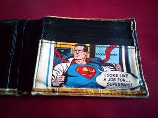 cartera de cuero SUPERMAN original