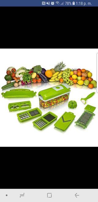 Corta pica rebana frutas verduras nuevo envío grat