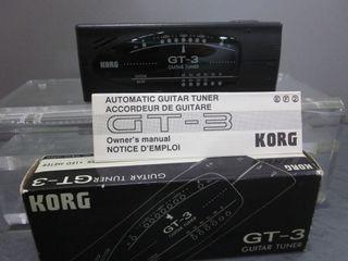AFINADOR GUITARRA KORG TUNER GT-3