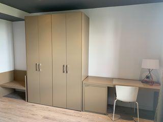 Mueble modular (escritorio + armario doble + banco