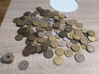 pesetas y monedas antigüas de franco y el rey