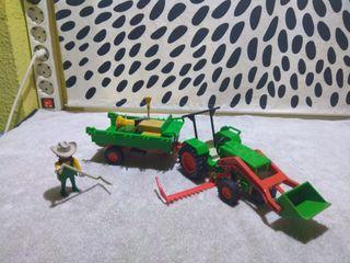 tractor +remolque playmobil