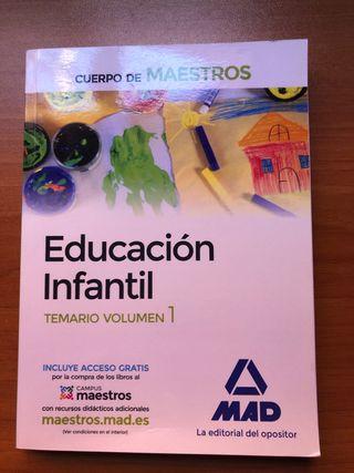 Libro de oposiciones educación infantil.