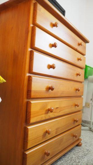 lote muebles madera. lanzarote