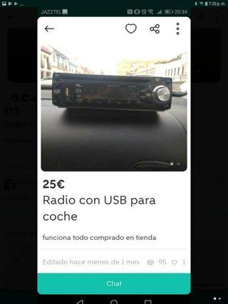 radio CD y USB