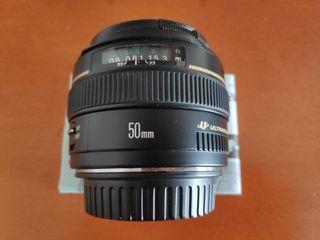 Objetivo camara CANON 50 mm F 1.4