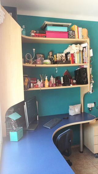 mesa escritorio estanteria
