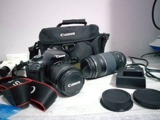 Cámara Réflex Canon 1100D + objetivos + extras