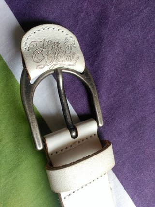 Cinturón cuero Tommy Hilfiger (blanco)