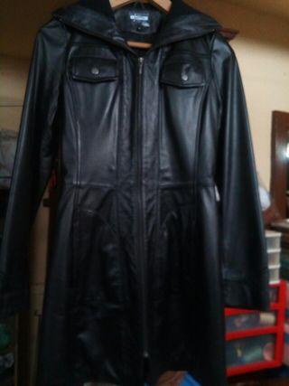 chaqueta de cuero negro chica talla S