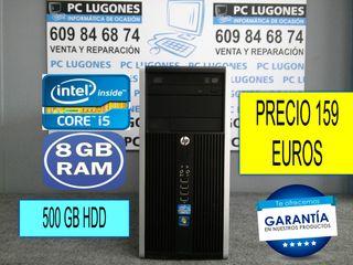 ORDENADOR INTEL CORE i5 CON 8 GB RAM 500 GB HDD