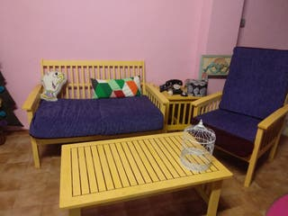 sofás de terraza con mesa