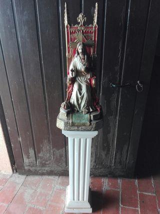 sagrado corazon con pedestal