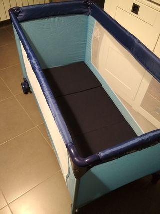 Cuna viaje portátil con colchón