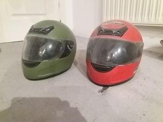 2 cascos de moto