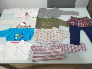 Lote ropa niña 6-9-12 meses primavera