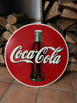 Cartel metálico Coca Cola