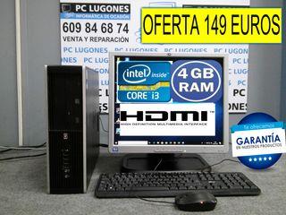 ORDENADOR COMPLETO CORE i3 CON 4 GB RAM 320 GB HDD