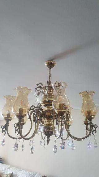 Lámpara de techo araña con 8 brazos