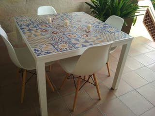 mesa artesanal ( baldosas)