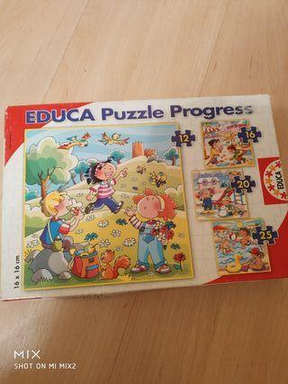 Puzzle progresivo