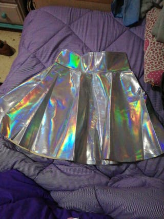 Falda holográfica talla S