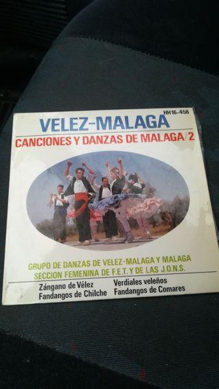Antiguo vinilo, Canciones y danzas de Málaga
