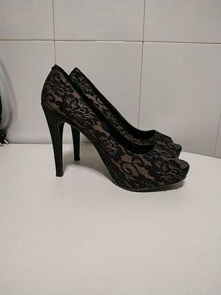 Zapatos tacon talla 40