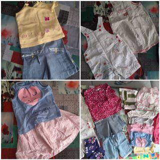 pack ropa de bebe niña talla 74cm y 80cm primavera