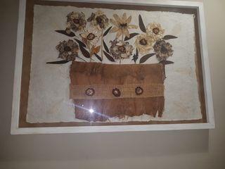 Cuadro decorativo de flores disecadas