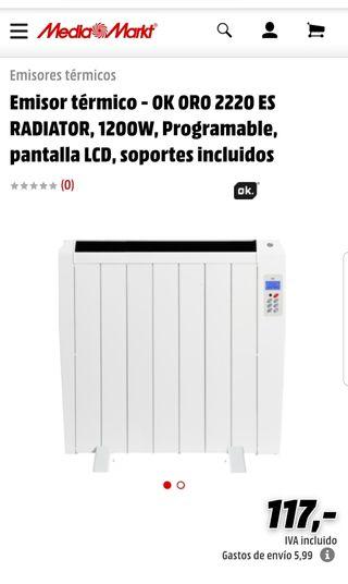 Emisor térmico - OK ORO 2220 ES RADIATOR, 1200W, P
