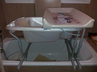 bañera bebe cambiador cam plegable