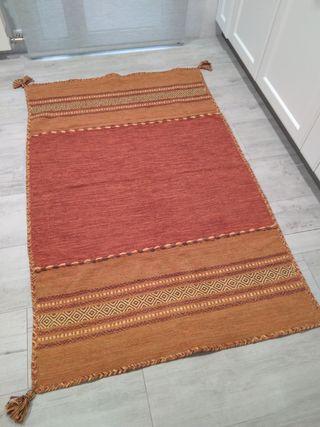 Alfombra india de algodón