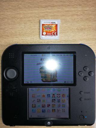 Nintendo 2DS y un montón de juegos