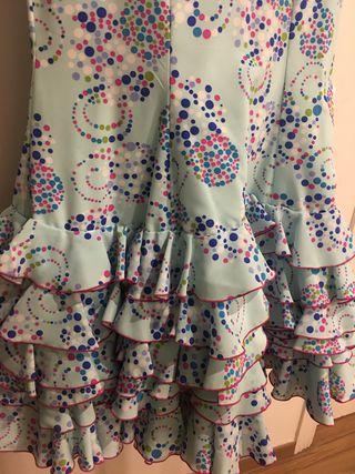 Traje vestido flamenca Gitana Feria