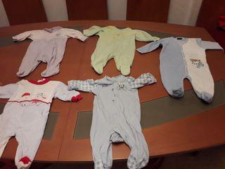 lote pijamas bebe manga larga de 1 a 2 meses