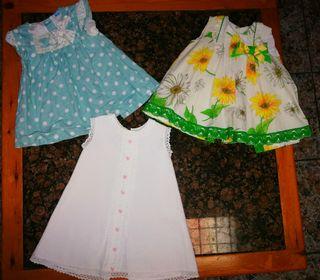 Lote 6 vestidos 18 meses
