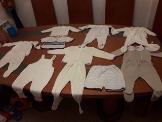 lote 1 bebe de 0 a 6 meses ropa punto