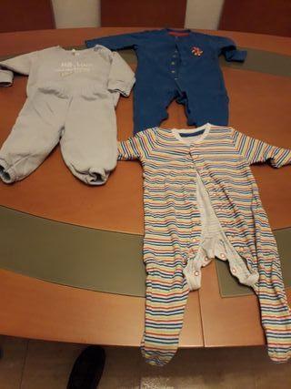 lote 2 pijamas bebe manga larga y chandal