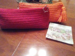 carteras de mano hechas a crochet