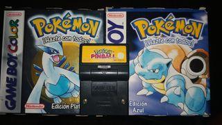 Lote 3 juegos Pokemon Game Boy