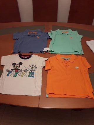 camisetas, polos niño 2 años