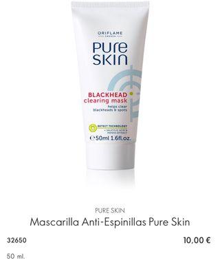 Mascarilla Anti-Espinillas Pure Skin
