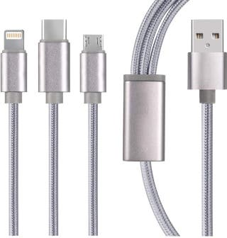 Cable 3 en 1 compatible para iPhone Samsung