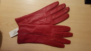 guantes piel