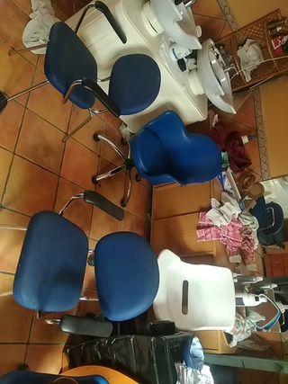 sillas de estudio y peluquería