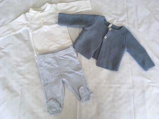 Conjunto 3 piezas bebé unisex